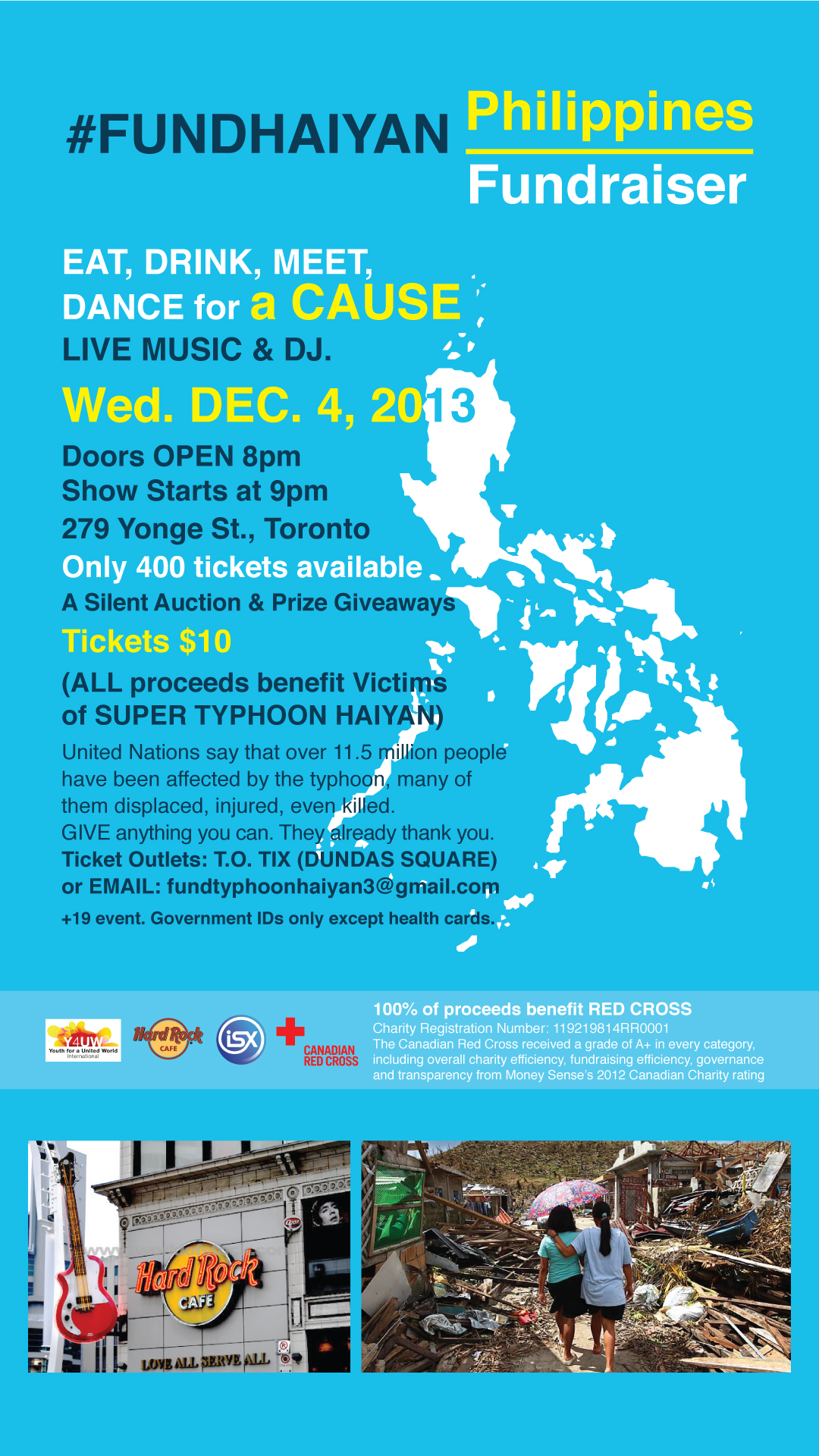 FundHaiyan - Eat, Drink, Meet, Dance for a Cause